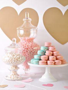 Aubrey is 6! Pink & Gold Macaron Party - Creative Juice