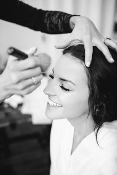 Make sure you get a sweet snap of you getting your wedding makeup done!