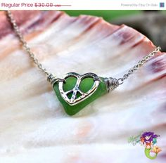 ON SALE Sea Glass Necklace from Hawaii by MermaidTearsDesigns, $27.00