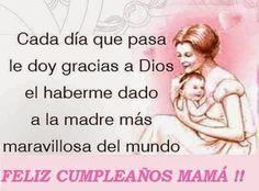 Feliz cumpleaños mamá, soy parte de tu ser y te agradezco por haberme dado una vida maravillosa, que dios te bendiga y te de muchos años mas de vida.  Te amo Arleni Rodriguez Narvaez