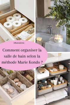 I have two bathrooms one of which is small: I had to adapt to store all my makeup and other products in the bathroom. I applied the Marie Kondo method. Source by influenceimmo