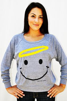 """$15 """"smile.JCLU Forever"""" is a simple image of a smiling angel that makes people smile! No scripture on this one one just a simple message:  smile.Jesus Christ Loves U Forever!"""