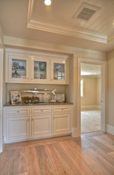 Inset in ceiling and duel purpose storage/entertaining space...