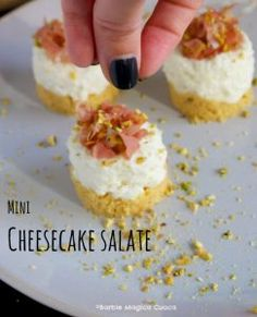 Mini cheesecake salate, ma proprio mini mini | Barbie magica cuoca - blog di cucina