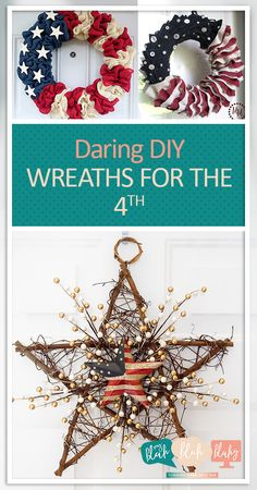 Daring DIY Wreaths for the 4th| Fourth of July, Fourth of July Porch Decor, Porch Decor Tips and Tricks, Fourth of July Home, How to Decorate for the Fourth, Summer Home Decor, Popular Pin