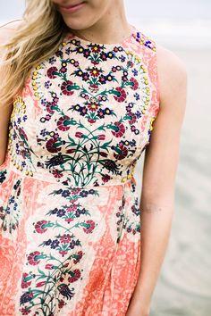 Anthropologie Botanique Maxi Dress for beach formal wedding, bridesmaid dresses, beach photo, fashion blogger, beaded dress