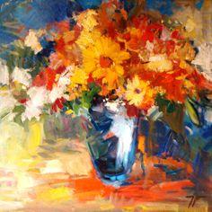 pintura de vaso com flores - Pesquisa Google