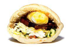 Sabich (Israel) Hard-boiled eggs, crunchy-soft fried eggplant, hummus ...