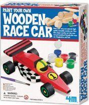 4M Paint Your Own Wooden Race Car each