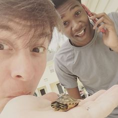 Opened the door and found this little guy right at our doorstep!! Not every day you're visited by a baby turtle! Had to find a nice little pond for it super quick!! So cute!!!  by thomassanders