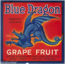blue dragon antique crate labels - Google Search