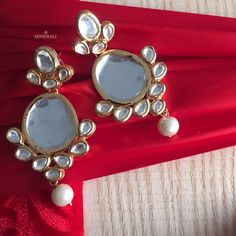 These gorgeous earrings by Ra Abta are a must have in every fashionista's wardrobe, get them now, at Minerali. #Minerali_store #earrings #gorgeous #fashion #raabta #jewellery #accessories #designer #linkingroad #bandra #minerali