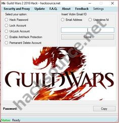 Download working, updated version of Guild Wars 2 2016 Hack below for free, no surveys, no viruses, no time wasting, scan included. Guild Wars 2 is an old MMORPG with a lot of security measures, that's why it's extremely hard to hack it and all we can come of is account hacking, because their... https://hacksource.net/guild-wars-2-2016-hack/