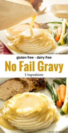 An easy, no fail gravy mix that's gluten free and dairy free! So creamy and flav… An easy, no fail gravy mix that's gluten free and dairy free! So creamy and flavorful that no one will ever guess it's gluten free, plus it's ready in 5 minutes flat! Lactose Free Recipes, Dairy Free Diet, Gluten Free Cooking, Gluten Free Sauces, Gluten Dairy Free, Healthy Recipes, Diet Recipes, Gluten Free Appetizers, Allergy Free Recipes