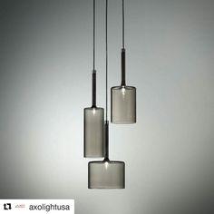 Loving these lights!!! #Repost @axolightusa with @repostapp  #Spillray #manuelvivian #axolight #lightingdesign #interiordesign #lighting #style #decor #design #decor #LED #grey #glass #suspension #pendant #madeinitaly