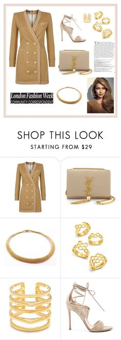 """""""THEM GIRLS BE LIKE"""" by bb-rodrigues on Polyvore featuring moda, Balmain, Yves Saint Laurent, Tiffany & Co., BaubleBar, Stella & Dot e Gianvito Rossi"""