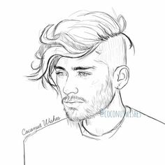 Zayne from onedirection coloring sheets no color how to for Zayn malik coloring pages