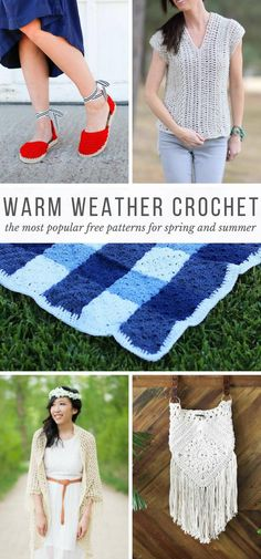 Yes! The most popular spring and summer crochet patterns including crochet tops, shrugs, shoes and even a picnic blanket! via @makeanddocrew