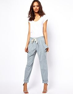 ASOS Trousers with Drape Pocket - they're like fancy scrubs!