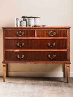 Home Staging, Chest Of Drawers, Chalk Paint, Dresser, Hardwood, Shabby Chic, New Homes, Diy Crafts, Flooring
