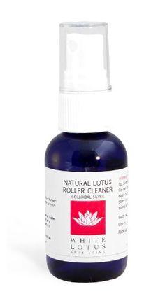 White Lotus Anti Aging Natural Derma Roller Cleaner 50ML- The Natural Dermaroller Cleaner Kills 99.99% of Bacteria Antibacterial Antifungal Anti viral Pump Spray To Disinfect Skin Needling Products