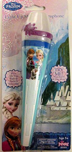 Disney Frozen Light-up Microphone Blue Version @ niftywarehouse.com #NiftyWarehouse #Frozen #FrozenMovie #Animated #Movies #Kids