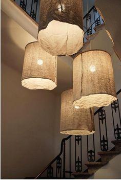 DIY Italian Linen Pendant Light   hot child studio