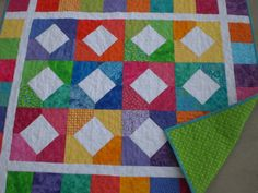 Bright colored Baby Quilt  $135