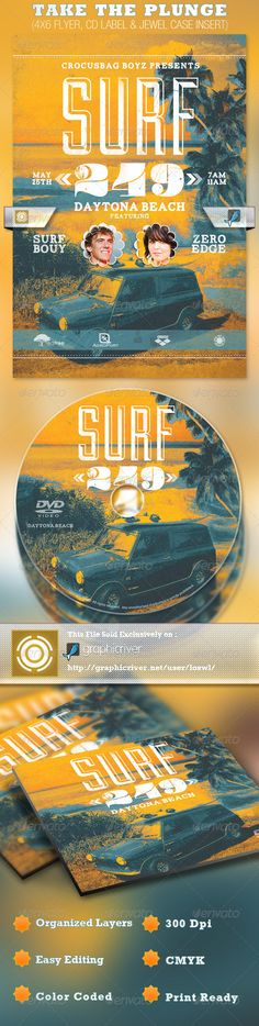 Surf 249 Flyer and CD Template, for $7.00