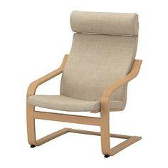 POÄNG Armchair - Isunda beige, oak veneer - IKEA