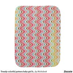 Trendy colorful pattern baby girl burb cloth baby burp cloths