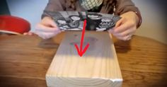 She Puts a Normal Photo onto A Block Of Wood And Leaves It To Dry, What It Becomes Will Amaze You