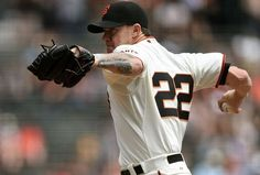 SAN FRANCISCO, CA - AUGUST 13: Jake Peavy #22 of the San Francisco Giants pitches against the Chicago White Sox in the top of the first inning at AT&T Park on August 13, 2014 in San Francisco, California. (Photo by Thearon W. Henderson/Getty Images)