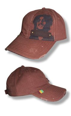 New Authentic Bob Marley Leather Patch Distressed Edge Hat. Virgil · Hats a2116060c44