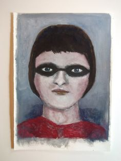 Original acrylic PORTRAIT painting // Girl by IsabellaDiSclafani