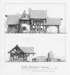 Gihn Mofeht's house [pencil] by SirInkman.deviantart.com on @DeviantArt