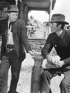 "Richard Widmark westerns | Richard Widmark as Dude and Gregory Peck as Stretch in ""Yellow Sky ..."