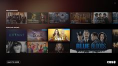 CBS TV UI/UX Concept on Behance
