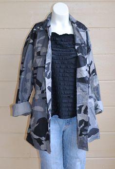 ON SALE Vintage Military Camo Shirt Jacket by founditinatlanta, $45.00
