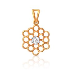 Diamond Pendant in 14K/18K Gold with 1 Forevermark diamond weighing 0.15 cts (TDW)