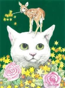 yuko higuchi cat drawing arts carton animal