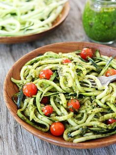 Fresh produce doesn't need much help to make a delicious dinner. This recipe for Zucchini Noodles with Pesto makes use of the crisp veggies for a tasty meal that's ready in just 15 minutes! Get the recipe from Two Peas and Their Pod.