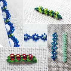 Embroidery with Beads – Index - a list of tutorials for embroidery stitches with beads. Fun stuff!
