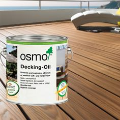 Osmo Decking Oil (007 Clear Teak). The Oils protect, maintain and beautify the wood surface, producing a smooth slightly satin finish which is extremely water resistant and dirt repellent. The finish will not crack, flake, peel or blister.