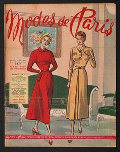 'MODES DE PARIS' FRENCH VINTAGE NEWSPAPER 16 DECEMBER 1949 | eBay