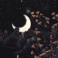 être dans la lune — oekaki-chan: Some illustrations for my business. Art And Illustration, Illustration Inspiration, Art Inspo, Kunst Inspo, Fantasy Kunst, Fantasy Art, Arte Obscura, Ouvrages D'art, Moon Art