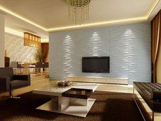 Panel Tridimensional Inerda - Ambiente minimalista en colores neutros.