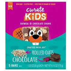 Curate™ Kids Oatmeal & Chocolate Chunk Energy Bars & Gels 6.15