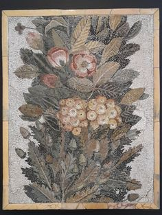 Floral mosaic Limestone and vitreous paste. Classical Antiquity, Byzantine Art, Roman Art, Mural Art, Murals, Stone Mosaic, Antique Art, Ancient Art, Art And Architecture