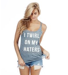 New I Twirl On My Haters Racerback Tank  Made With Tri-Blend: Heather Navy Blue, Light Heather Gray, Tri-Blend Gray, Heather Turquoise, And Heather Purple Made With 100% Cotton: White, Black, Neon Yellow  MADE IN USA  Size Guide:  S Bust: 34 Length: 27 1/2  M Bust: 36 Length: 28  L Bust: 38 Length: 28 1/2  XL Bust: 40 Length: 29 THIS ITEM IS MADE TO ORDER. <<<<<<<<<<<<<<<<<<<<<<<<<<<<<<<<...